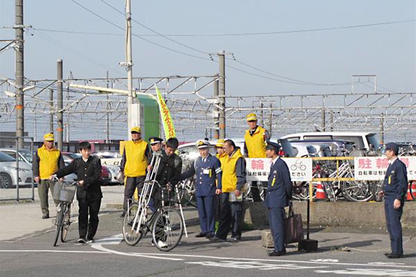 自転車マナーアップ広報(伯耆大山駅)