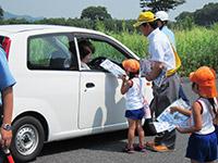 園児による交通安全の呼びかけ