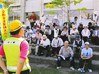 グランドゴルフ大会で交通安全教室(中ノ郷支部)
